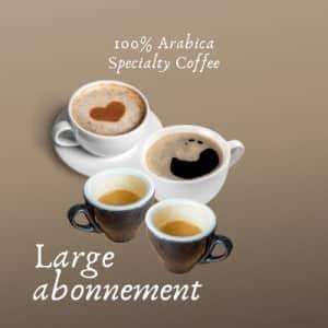 Abonnement LARGE Bèkske specialty koffie